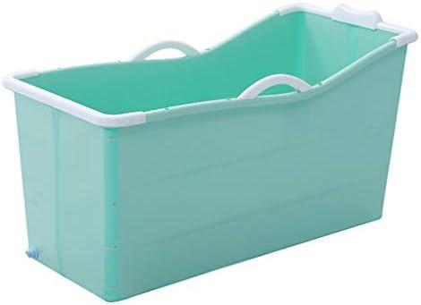 折り畳み式のバスタブ、シャワー折り畳み式携帯ノンスリップトレイマット、ストレージビン、リクライニングポジション (Color : Green)