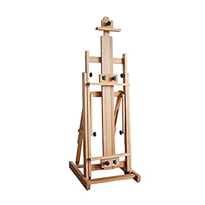 Log Color Easel, Horizontal and Vertical Dual-Use Oil Painting Shelf, Real Wooden Real Estate Advertising Display Stand, Assembling A Folding Mobile Painting Frame, Art Dedicated Large Easel