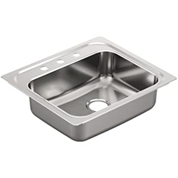 Moen 22127 Commercial Sink 20 Ga 3 Hole Stainless