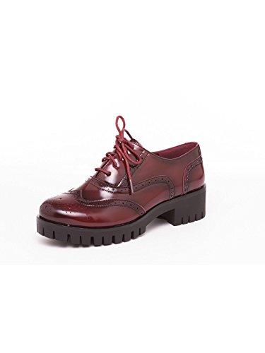 Queen Sophie Burdeos–Zapatos de cordones bajas de Eco Piel–Martina Gabriele Shoes burdeos