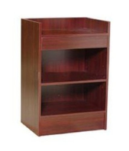Cash Register Stand, 24 Inches Wide Cherry Color By Modern Store Fixtures