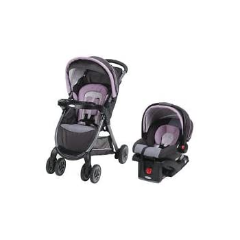 FastAction Fold Click Connect Travel System Car Seat Stroller Combo Janey