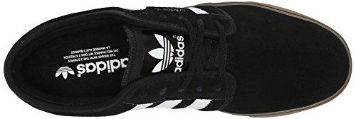 adidas Originals SEELEY de hombres Lace Up Zapatos negro, blanco (Black/Running White/Gum)