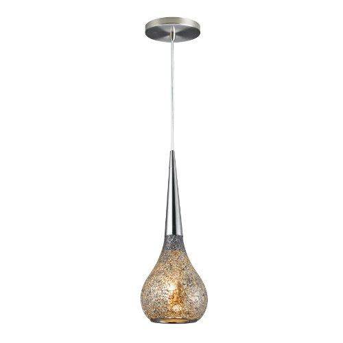 Woodbridge Lighting 13523STN-M30MIR Torine 1-Light Mid Pendant, Satin Nickel