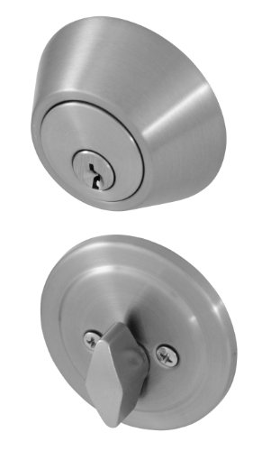 Honeywell 8111309 Single Cylinder Deadbolt, Satin Nickel