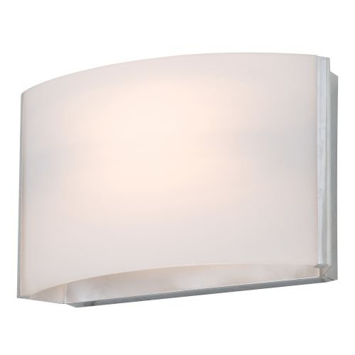 Price comparison product image DVI DVP1701SN-OP One Light Vanity with Half Opal Glass,  Satin Nickel