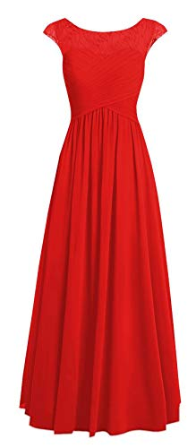Red E067LF Evening Long Prom Dresses Round Gown Women TalinaDress Bridesmaid Neck qIz66w