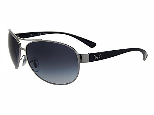 New Ray Ban RB3386 003/8G Silver/Grey Gradient Lens 63mm - Ban Oversized Aviator Sunglasses Ray