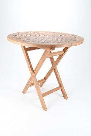 Point Garden Tisch Gartentisch Gartenmobel Aus Teak Teakholz Rund
