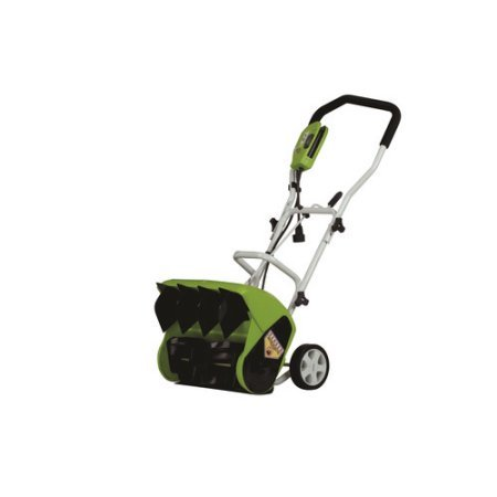 Greenworks 9-amp 16'' Electric Snow Thrower, Green by Green Works .