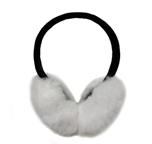 Rabbit Hair Earmuff for Winter, Soft and Warm (White)