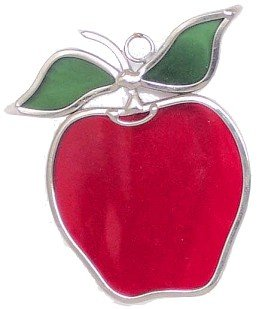 Apple Suncatchers (Small) - Set of 2 in Stained Glass ()
