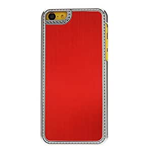 AES - Solid Color Noble Designed Aluminum Shell Hard Case for iPhone 5C (Assorted Colors) , Gold