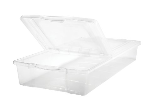 Split Lid - IRIS 58 Quart Split-Lid Underbed Box,1 Pack of 5 pieces