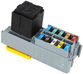 amazon.com: mta fuse and relay holder 1x maxi relay and 10 way ... mta relay fuse box  amazon.com