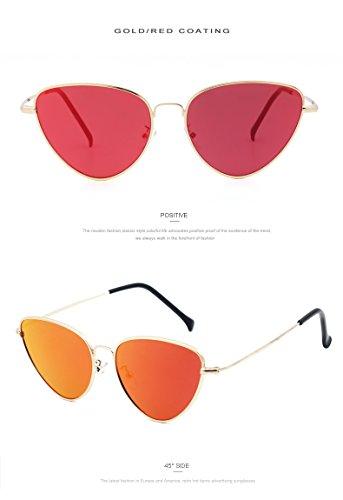 Fashion Cat Eye Sunglasses Women Designer Sun glasses Red Tinted Lenses - Ban Ran