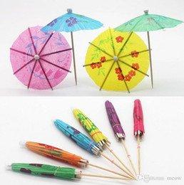 Superbe 36 X Multi Coloured Paper Cocktail Umbrellas Parasols