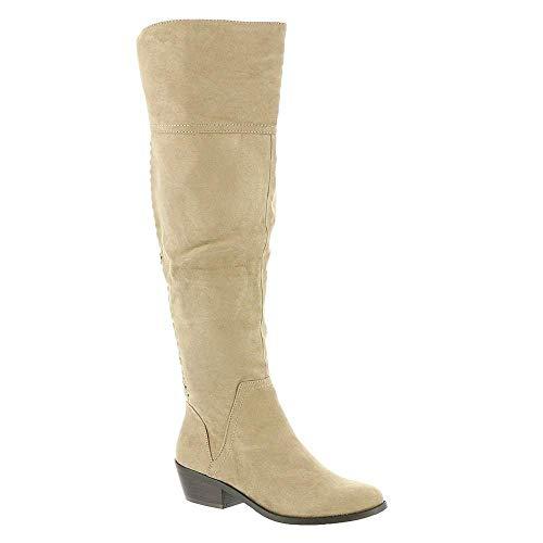 MADELINE girl Womens Turf Fabric Closed Toe Knee High Fashion, Desert, Size 8.5 ()