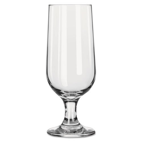 (Libbey Embassy Footed Drink Glasses, Beer Glass, 12oz, 5 3/8