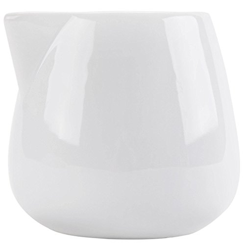 (Tabletop King PC-201 Bright White Porcelain 1.5 oz. Creamer - 48/Case)