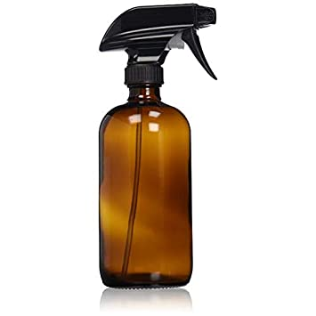 1def35db235a Empty Amber Glass Spray Bottle - Large 16 oz Refillable Container is Great  for Essential Oils,...