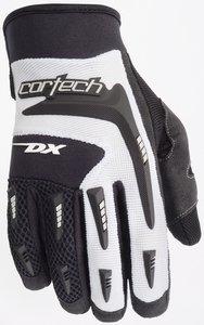 Rocket Textile Suzuki Joe (Cortech DX 2 Mens Textile Street Racing Motorcycle Gloves - Black/White / Size 6)