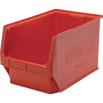 Quantum Storage Magnum Bin - 3-Pack, 19 3/4in.L x 12 3/8in.W x 11 7/8in.H, Red, Model# QMS533RD