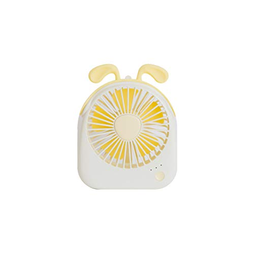 JJLIKER Cute Personal Portable Mini Desk Fans for Child Girl USB Rechargeable Battery Operated Quiet Table Fan Speed Adjustable for Office, Outdoor ()