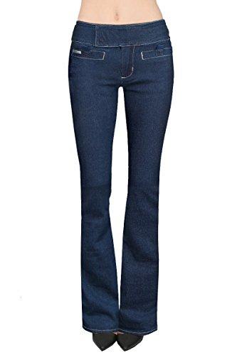 Zipper Pocket Denim Flare Pant - 3