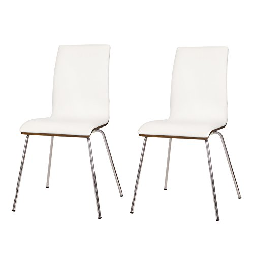 Adeco Leather-like Seat Bentwood Leisure Chair, For office waiting Reception Area and Living Room - White (Office Chair Pinnacle)