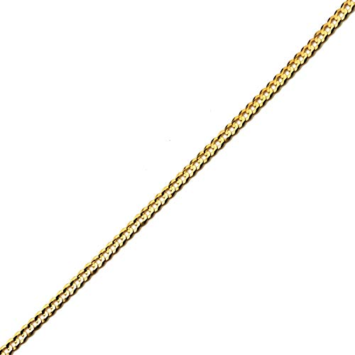 - LoveBling 10k Yellow Gold 3mm Plain Solid Curb Cuban Bracelet W/Lobster Lock (7