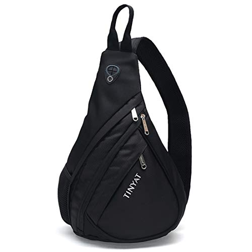 SACYSAC Sling Bag Men's Shoulder Bag Triangle Diagonal Cross Bag Outdoor Sports and Leisure Backpack Large Capacity Travel Chest Bag ()