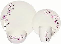 Melange Coupe 32-Piece Porcelain Dinnerware Set (Pink Zen) | Service for 8  sc 1 st  Amazon.com & Amazon.com: Commercial Grade - Dinnerware Sets / Dining ...
