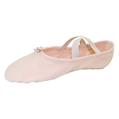 Danzcue Adult Split Sole Canvas Pink Ballet Slipper 6 M US