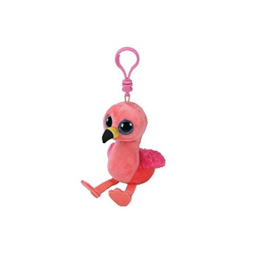 Ty GILDA - Pink Flamingo Clip Key Chain Plush