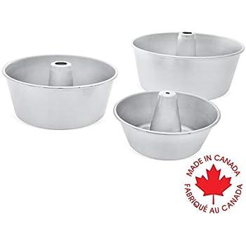 Amazon Com Crown 3 Piece Angel Food Cake Pan Set 6 8