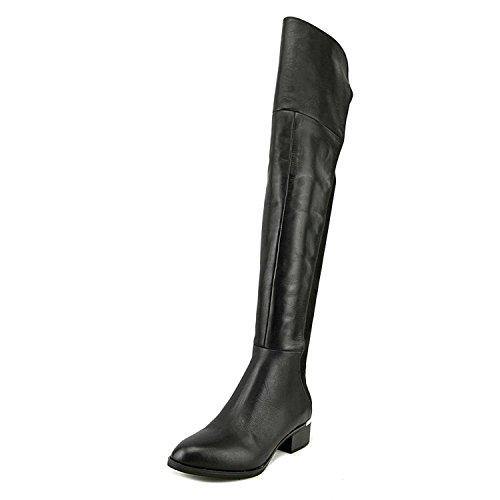 Bar III Womens Rene Leather Closed Toe Over Knee Fashion Boots, Black, Size 6.5 by Bar III