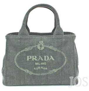 c9f60dcd70f3 Amazon | プラダ バッグ PRADA カナパ デニム トート スモール ミニ トートバッグ TPM ショルダーストラップ | PRADA(プラダ)  | ハンドバッグ