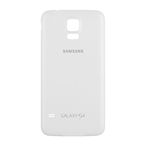sale retailer 6ccdf a9cba OEM Samsung Galaxy S5 SM-G900 Battery Door Back Cover Replacement -  Shimmery White (Samsung Logo)