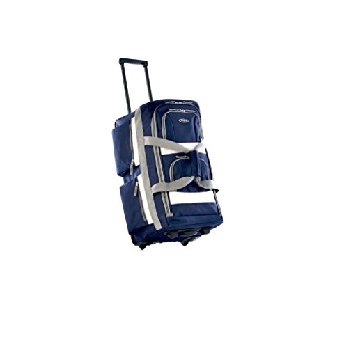 Upright Roller Luggage (Stylish Sport Rolling Duffel Bag, Carry On Roller Luggage, Upright Navy Duffle)