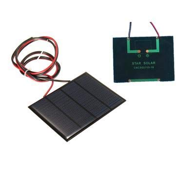 Arduino Compatible SCM & DIY Kits Smart Robot & Solar Panel - 12V 1.5W Mini Solar Panel Small cell Module Epoxy Charger With 1M Welding Wire - 1 x Solar Panel 1 x Welding Wire by Unknown