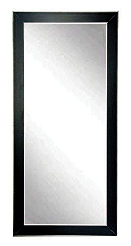 BrandtWorks BM11floor Silver Accent Black Floor Mirror, 71 x 32,