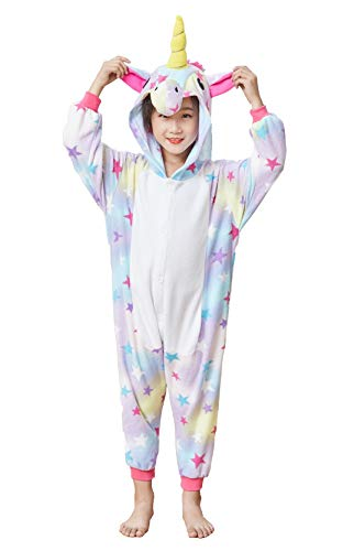 Kids Unicorn Cosplay Onesies Costume,Child Cute One Piece Animal Pyjamas Stars 2-4 for $<!--$19.99-->