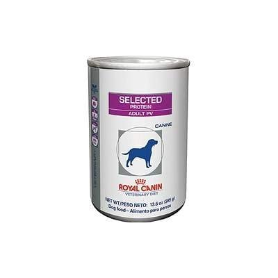 Royal Canin Veterinary Diet Selected Protein Adult PV Canned Dog Food 24/13.6 oz
