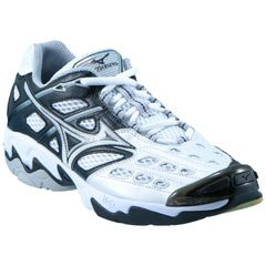 Mizuno Wave Lightning 3 Volleyball Shoe Womens - White/Black 6.5 from Mizuno