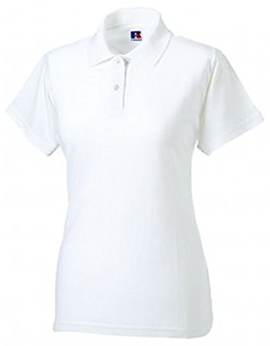 Jerzees Ladies Pique Polo Shirt XXL White