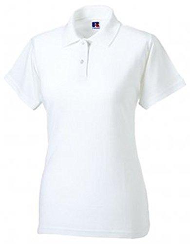 Russell Women's Pique Cotton Short Sleeve Polo Shirt White XL