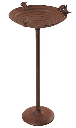 Esschert Design USA FB91 Cast Iron Standing Birdbath by Esschert Design USA