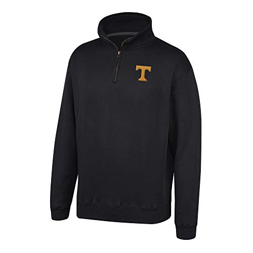 Top of the World NCAA Men's Tennessee Volunteers Team Color Classic Quarter Zip Pullover Black Large