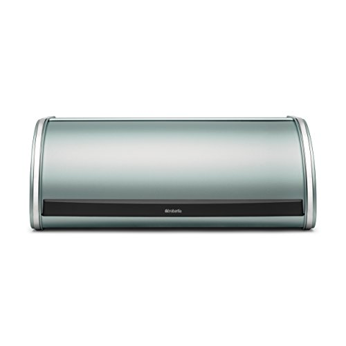 - Brabantia Roll Top Bread Bin, Breadbox, Metall, Metallic Mint, 484308